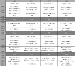 リワークプログラム